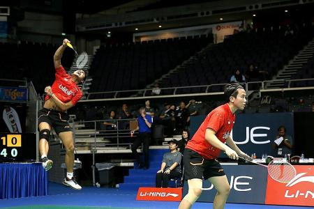 Singapore Open: Shock defeat for Olympic champions