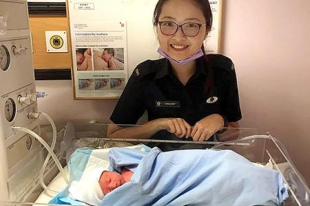 Medic 'happy to bring a life into this world'