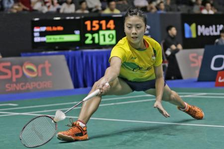 Singapore shuttlers come up short