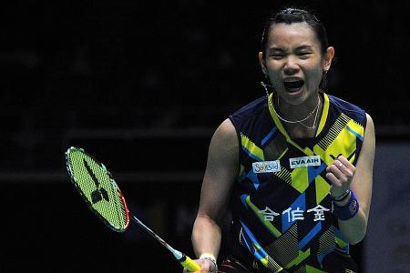 Unstoppable Tai clinches OUE SIngapore Open
