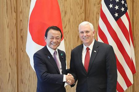US VP Mike Pence reassures Japan of US resolve against North Korea