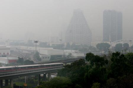 This time, it is local pollution causing haze