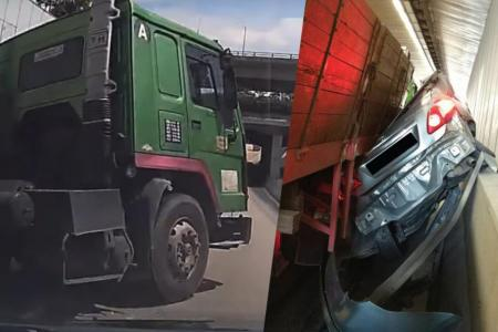 Driver in PIE crash: Trailer cut into my lane
