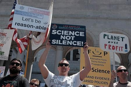 Thousands march in celebration of science