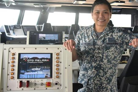 She works on ship she helped to design