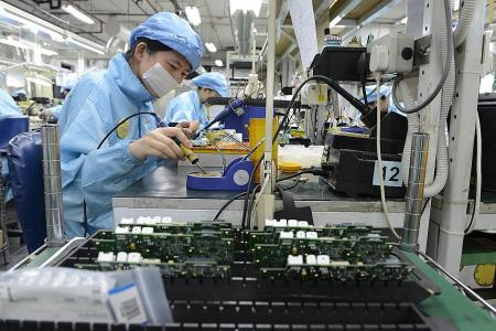 Growth of manufacturing sector slows in April
