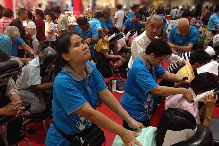 Shop, get free massage & help the visually handicapped today