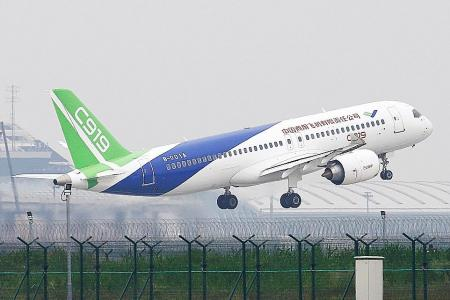 China-made jet takes off in maiden flight