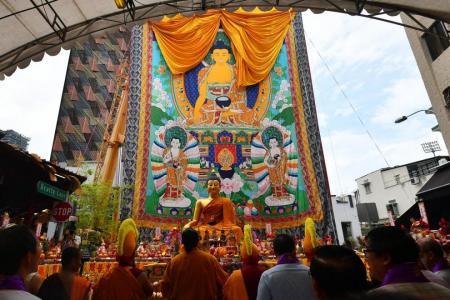 Thangka unveiled for Vesak Day