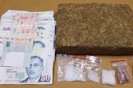 Three arrested, 1kg cannabis seized in drug bust