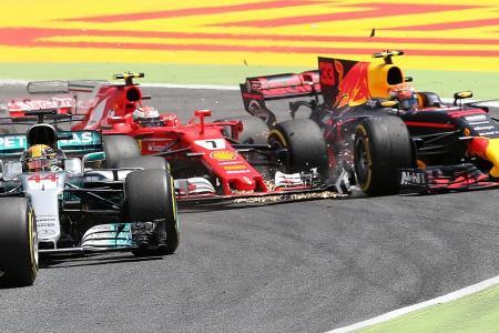 Hamilton wins incident-filled Spanish GP