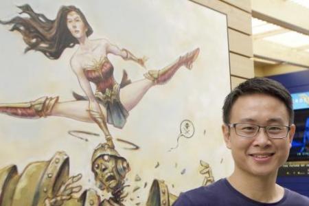Wonder Woman at Bugis today