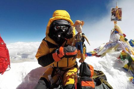 Yusrina stands tall on Everest