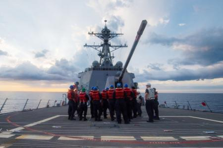 US warship sails near reef claimed by China