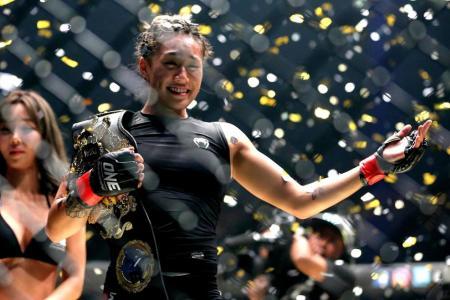 Anglela Lee beats Istela Nunes at the ONE Championship