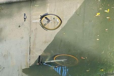Two oBikes found in river