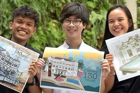 Students' postcard designs to go on sale