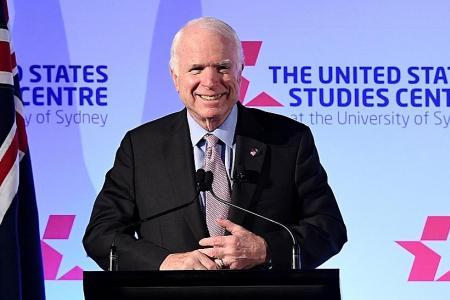 China's militarising islands: McCain