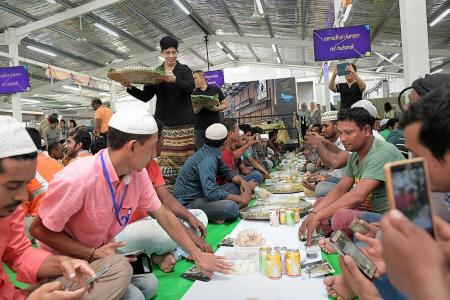 Company hosts iftar for workers