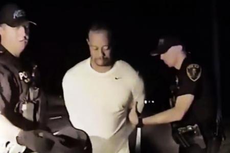 Tiger Woods dashcam