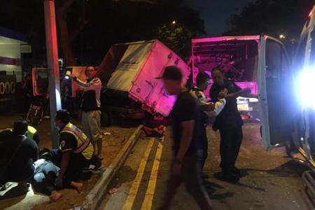 Seven taken to hospital after Woodlands accident