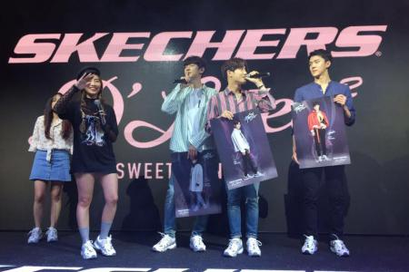 Fans pack Causeway Point for 15 minutes of EXO