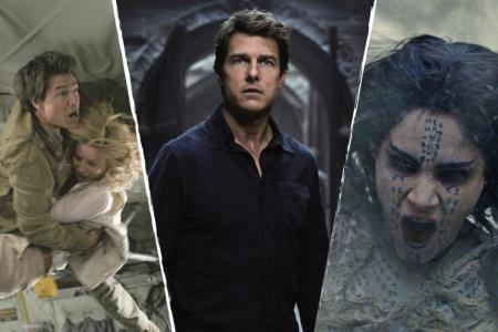 Tom Cruise, Annabelle Wallis and Sofia Boutella in The Mummy