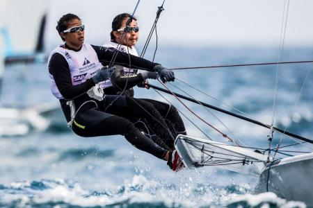 Singapore's 49erFX duo finish seventh at World Cup