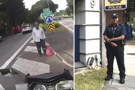 Cop moved by reaction to his good deed video