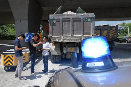 Traffic Police target heavy vehicles