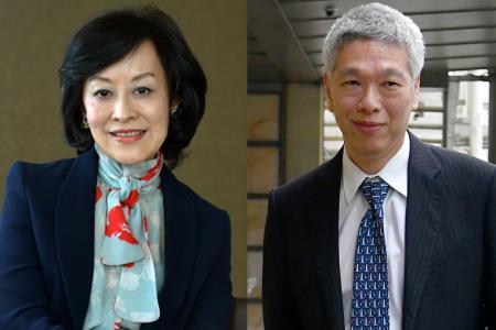 Mrs Lee Suet Fern and Mr Lee Hsien Yang