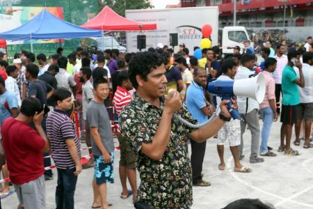 Free clothes for migrant workers on Father's Day