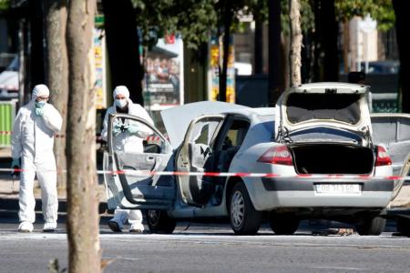 Man who rammed into police van was on French watch list