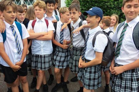 UK boys skirt the rules