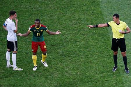 Cameroon coach Broos livid with ref