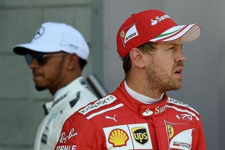Gloves off between Hamilton and Vettel