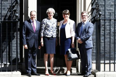 British PM strikes deal with Irish party