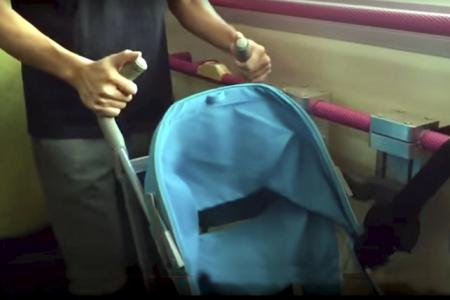A restraint system for strollers will be tested on public buses
