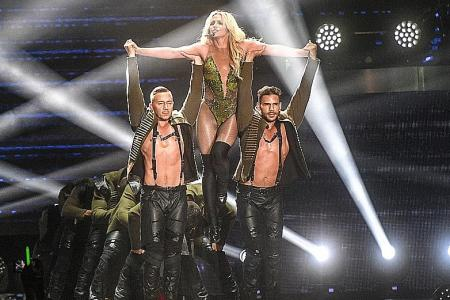 Britney hits the town and thrills with her hits