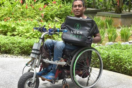 Para Games athlete takes on food delivery challenge