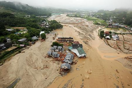 Massive floods hit Japan, 3 dead
