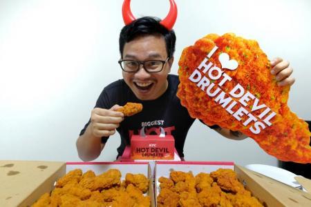 'Hangry' fan rewarded with KFC's Hot Devil Drumlets