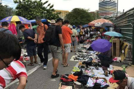 First-timers and returners at Sungei Road market's last weekend
