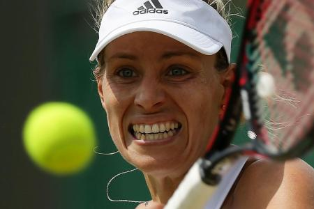 Kerber crashes out