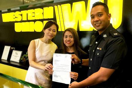 Western Union employee foils scam