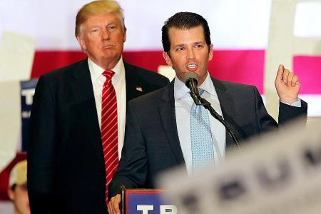 Trump insists son is innocent, slams 'witch hunt'