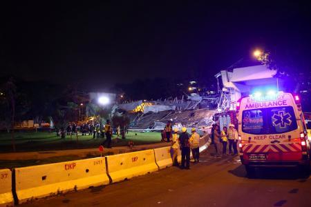 PIE flyover collapse: 1dead, ten injured