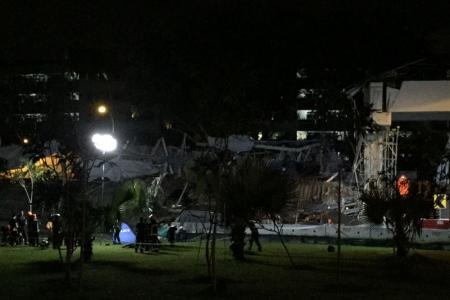 Collapsed structure at PIE – one dead, 10 injured