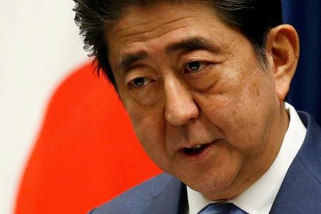 Abe agrees to inquiry after support sinks