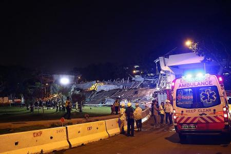 Worker killed after part of viaduct collapses